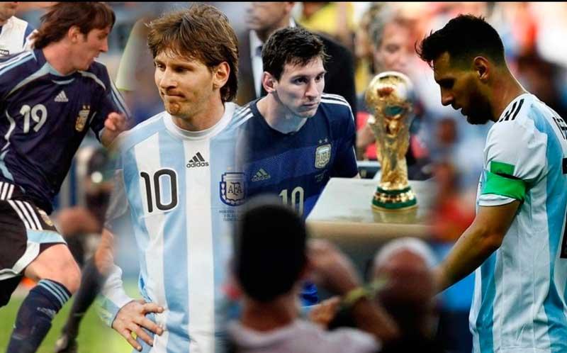 Messi y sus cuatro Mundiales de Fútbol
