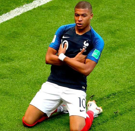 Mbappé jugador francés destacado en el Mundial de Rusia 2018