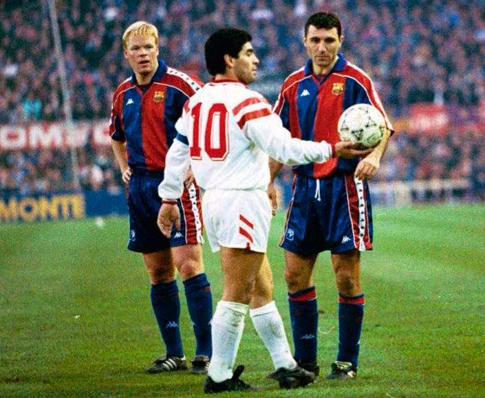 Maradona en el Sevilla