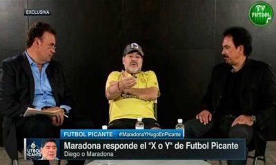 Maradona y Hugo Sánchez