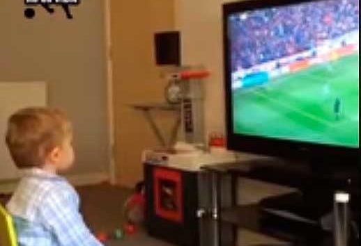 Cuando el fútbol se lleva en la sangre desde niño